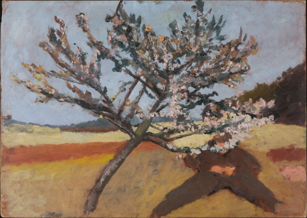Man lying beneath a Blossoming Tree, Paula Modersohn-Becker