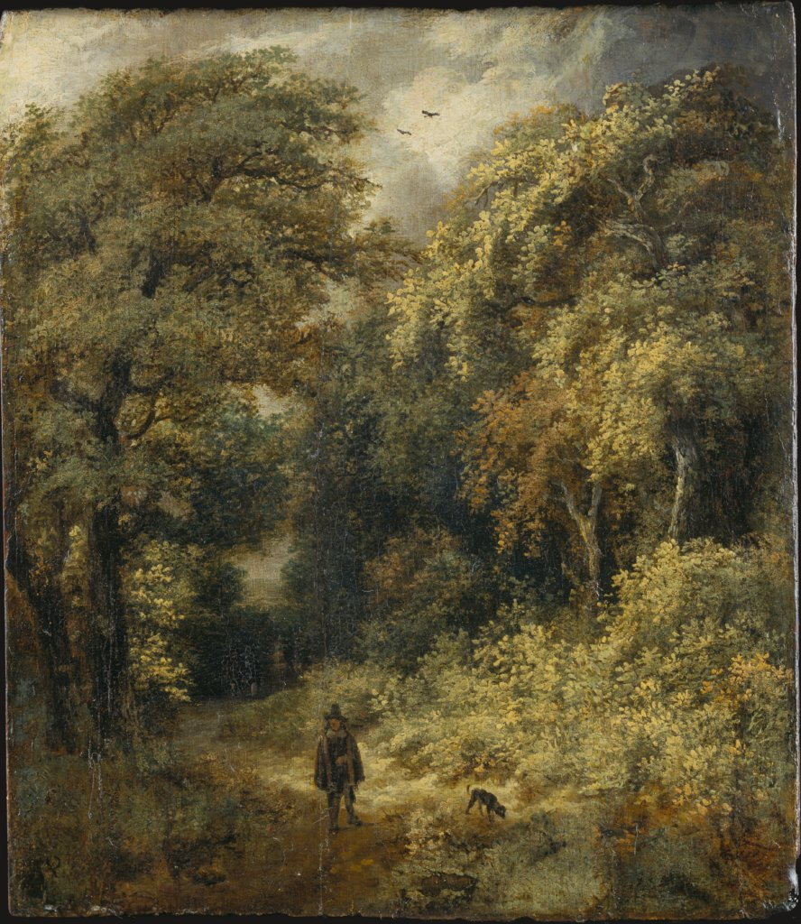 Forest Path with People Strolling, Jacob Isaacksz. van Ruisdael