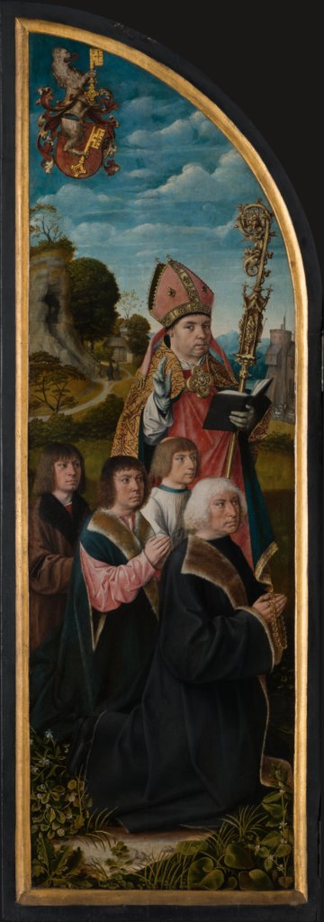 St Nicholas with Donors, Master of Frankfurt