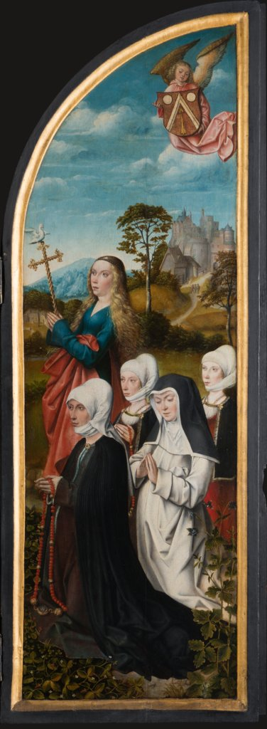 St Margret with Donors, Master of Frankfurt
