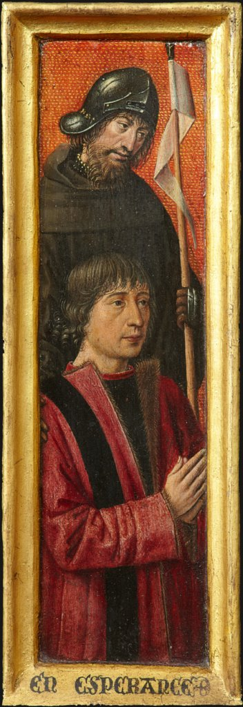 Portrait of Willem van Overbeke with Saint William, Bruges (?) Master ca. 1485/90