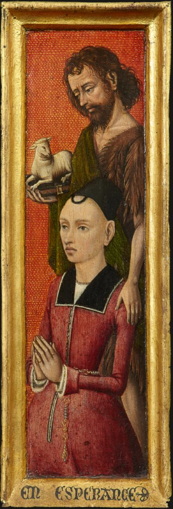 Portrait of  Johanna de Keysere with John the Baptist, Bruges (?) Master ca. 1485/90