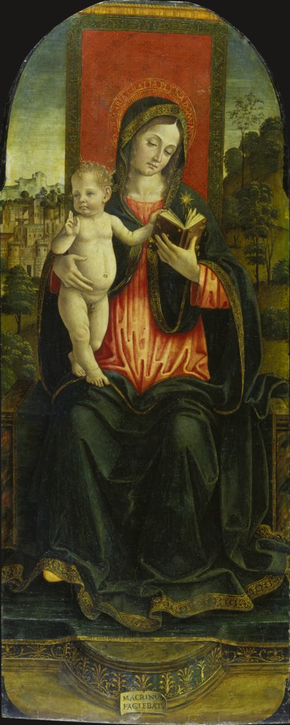 Madonna and Child Enthronend, Macrino d'Alba