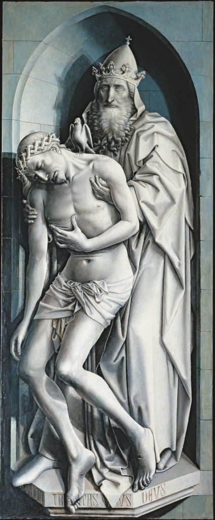 Throne of Mercy, Master of Flémalle, Robert Campin  Werkstatt
