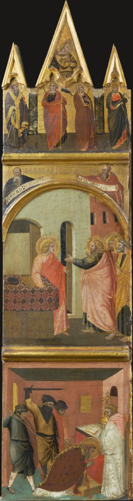 Calling and Martyrdom of Saint Matthew, Pietro Lorenzetti  workshop