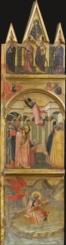 Saint John the Evangelist on Patmos, his Ascension, Pietro Lorenzetti  workshop