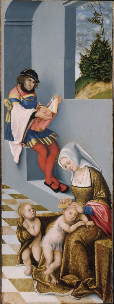 Mary Salome and Zebedaeus (with the features of John the Constant) with their sons St. James the Greater and St. John the Evangelist, Lucas Cranach the Elder