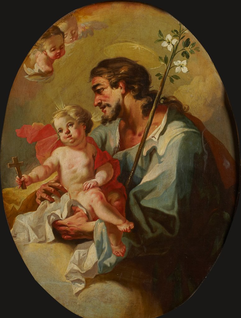 St. Joseph with the Christ Child, Martino Altomonte   ?