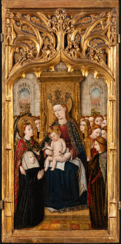 Madonna with Child, Angels and founder, Jacomart, Juan Rexach  Werkstatt