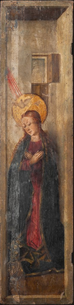Virgin Annunciate, Jacomart, Juan Rexach  workshop
