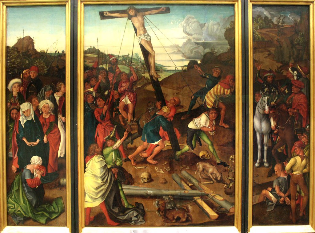 Raising of the Cross, Kopie nach Master of the Stötteritz Altar