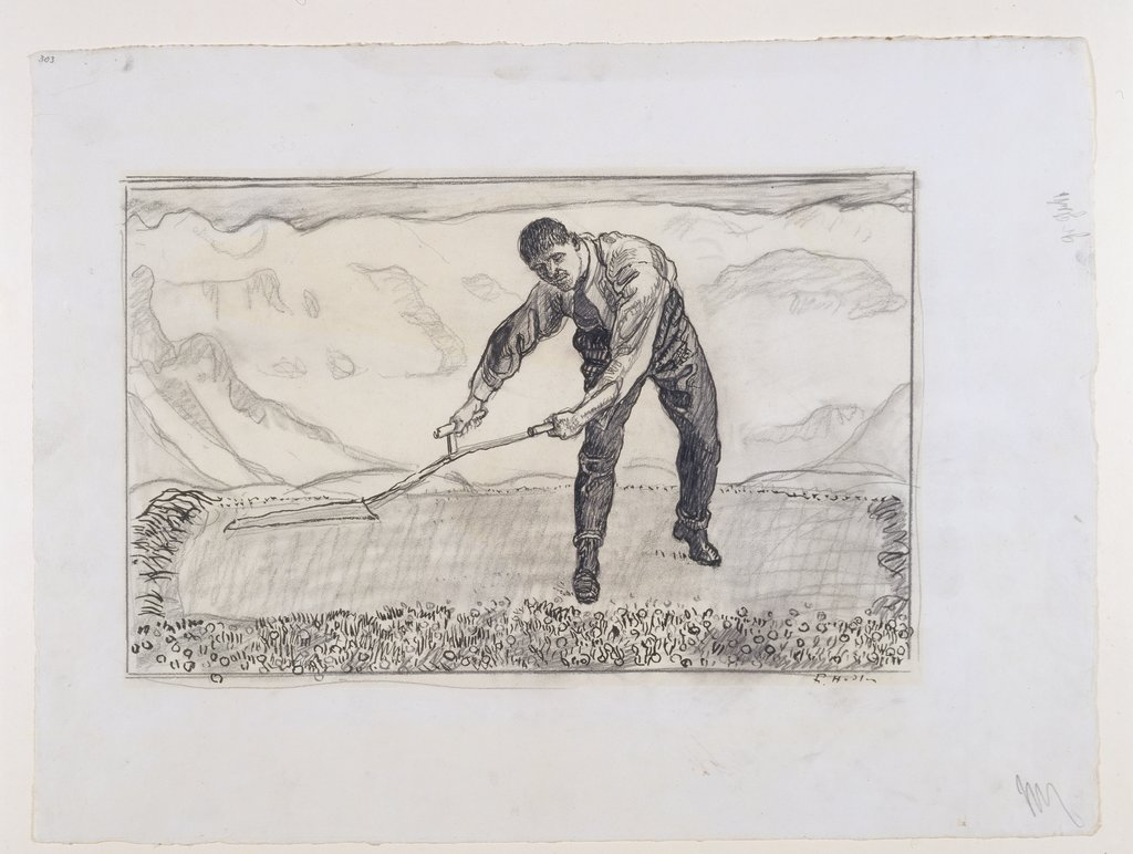 Mower on the field, Ferdinand Hodler