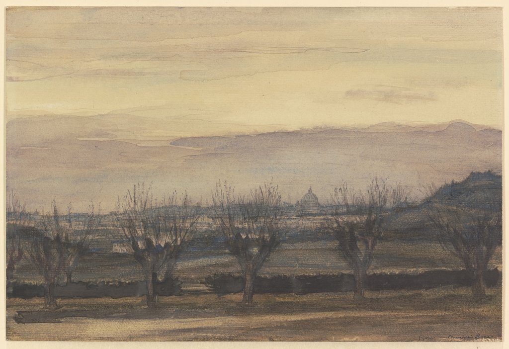View of Rome at Sunset, Muirhead Bone