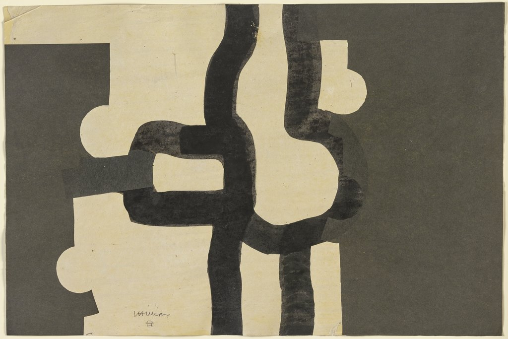 Collage noire, Eduardo Chillida