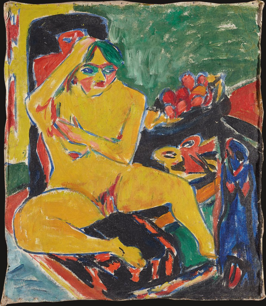 Nude at the Studio, Ernst Ludwig Kirchner