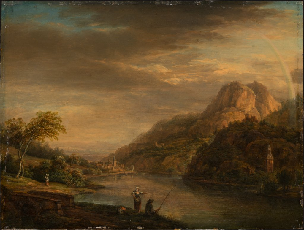 Mountainous River Landscape with Rainbow, Christian Georg Schütz the Elder