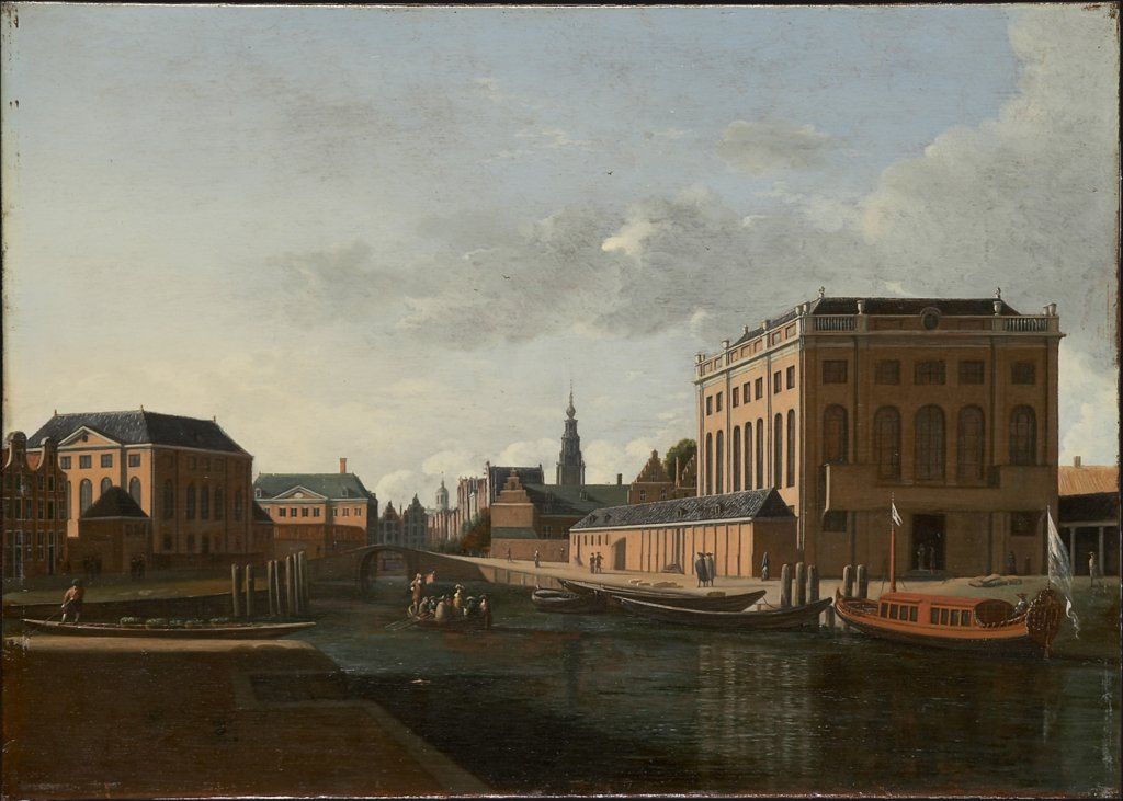 The two Synagogues in Amsterdam, Gerrit Adriaensz. Berckheyde