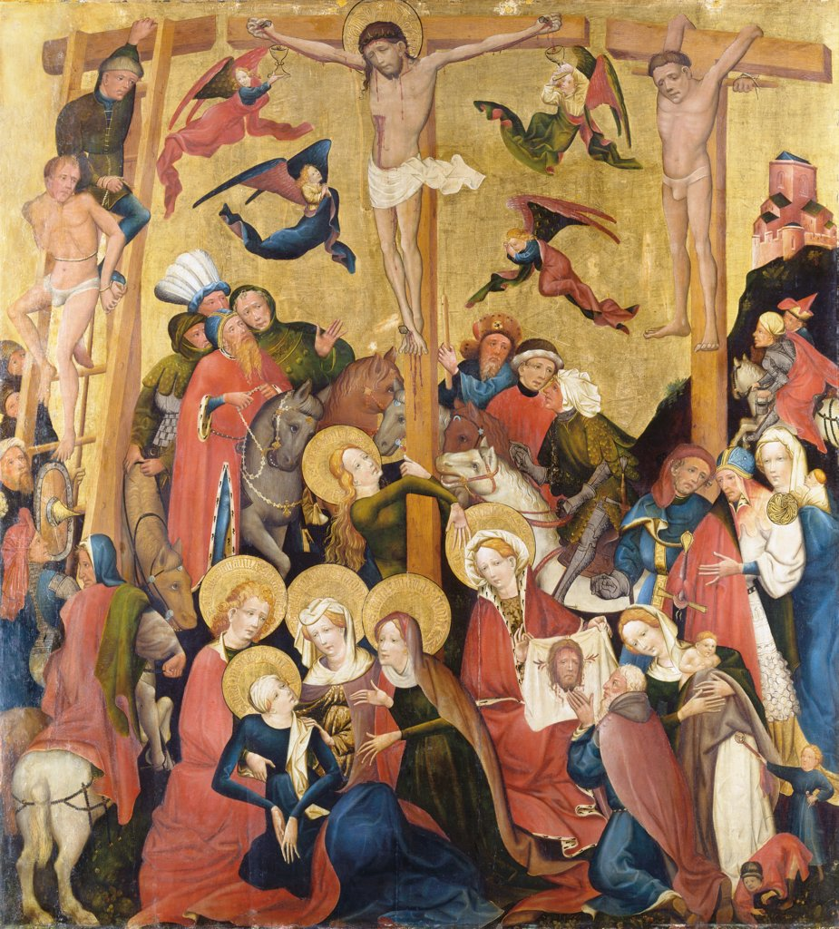 The Crucifixion, Master of the Middle Rhine ca. 1420