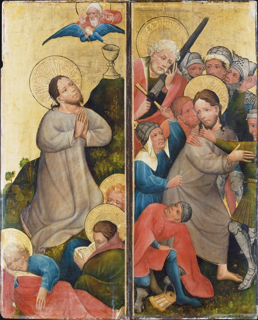 Agony in the Garden and Arrest of Christ, Master of the Middle Rhine ca. 1420