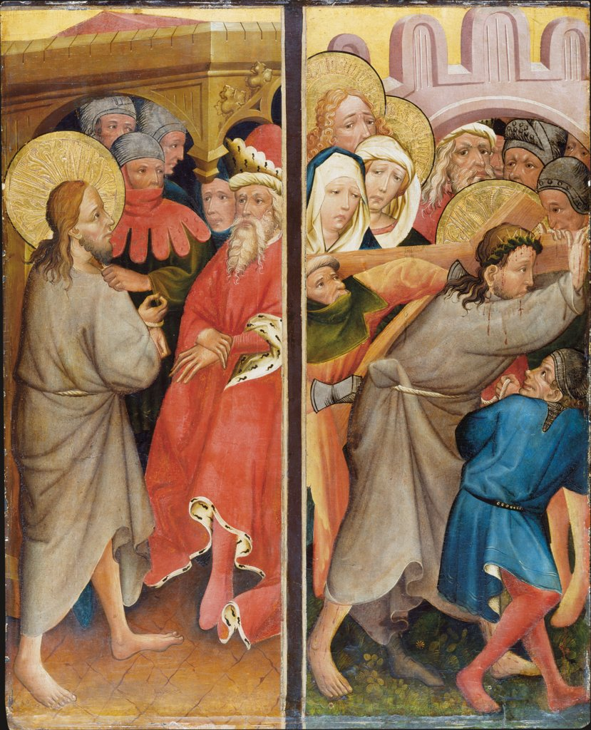 Christ before Pilate, Carrying of the Cross, Master of the Middle Rhine ca. 1420