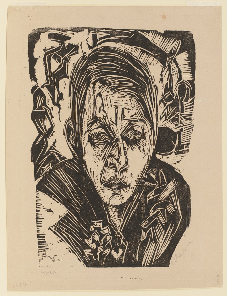 Young Girl with a Cigarette (Nele van de Velde), Ernst Ludwig Kirchner