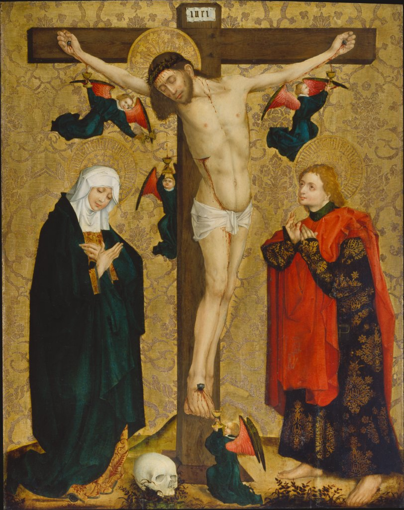The Crucifixion with Mary and Saint John the Evangelist, Master of the Middle Rhine ca. 1450/60