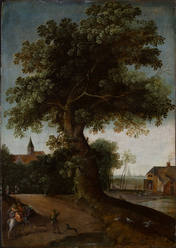 Landscape with Large Tree, Jacob Grimmer