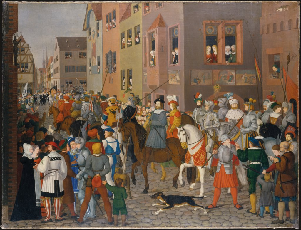 The Entry of King Rudolf of Habsburg into Basel in 1273, Franz Pforr