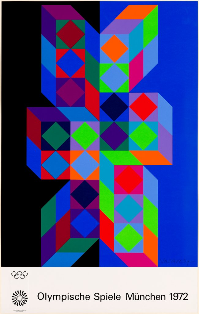 Olympia-Plakat München, Victor Vasarely