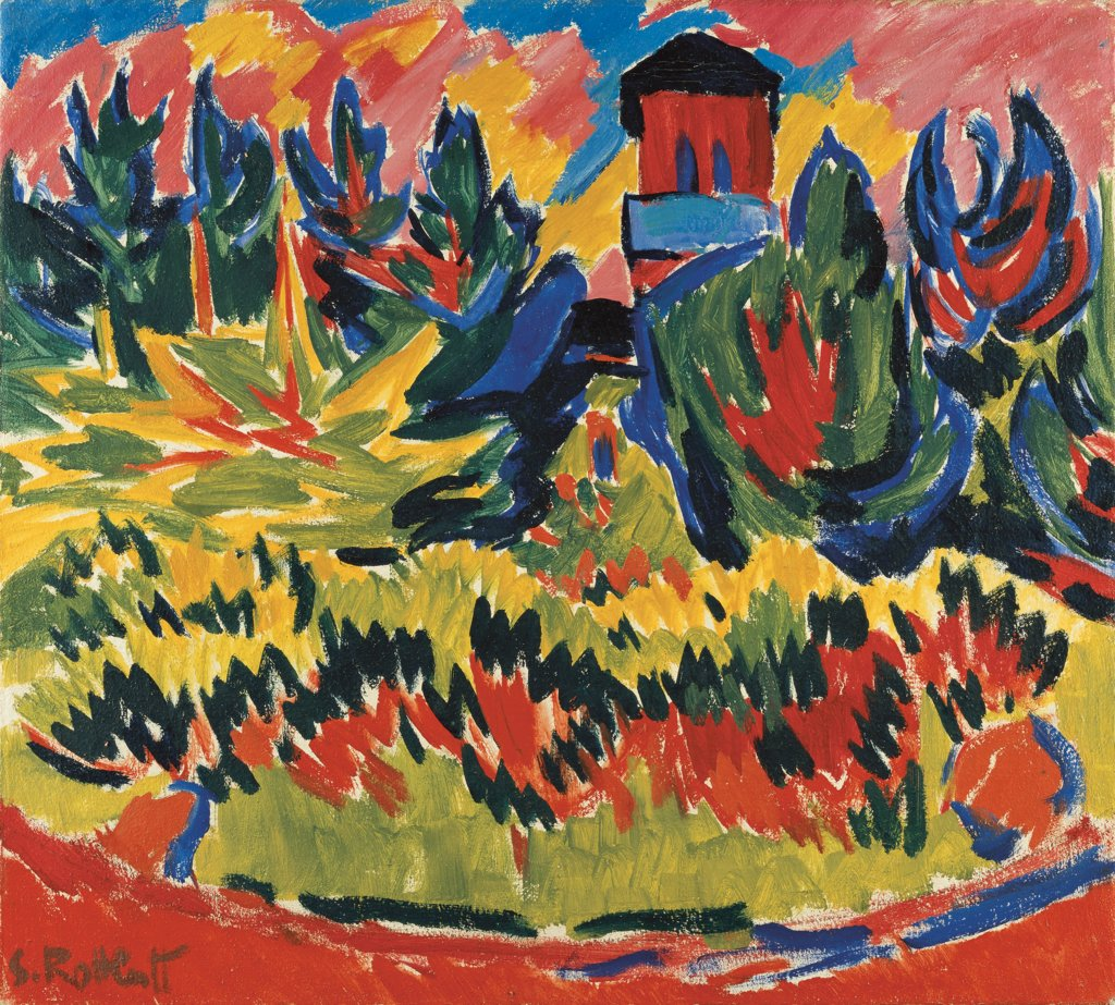 Tower in the Park, Karl Schmidt-Rottluff