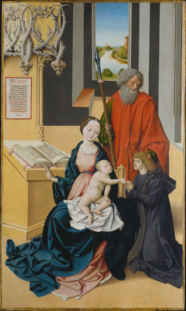 Virgin and Child and a Donor Presented by Saint Thomas, Master of Grossgmain