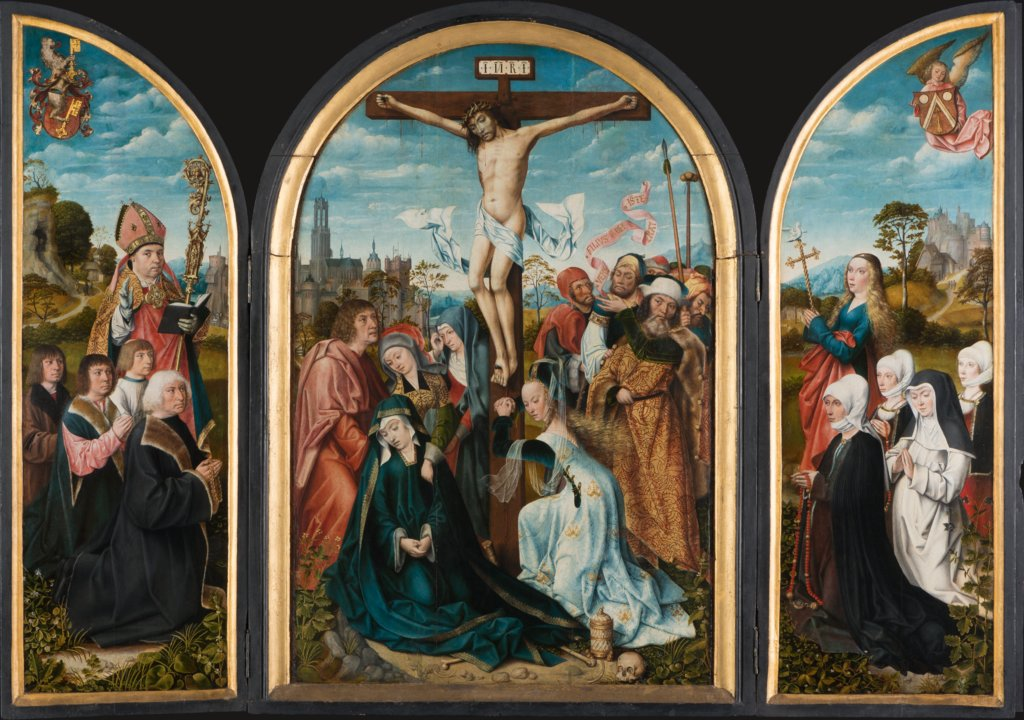 Crucifixion Triptych of the Humbracht Family of Frankfurt, Master of Frankfurt