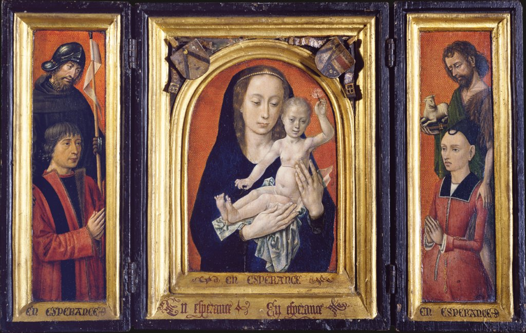 Triptych with Virgin and Child, Hugo van der Goes, Bruges (?) Master ca. 1485/90