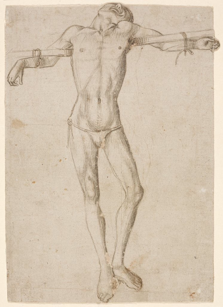 A Robber, study for a Crucifixion, Venetic, 15th century   ?