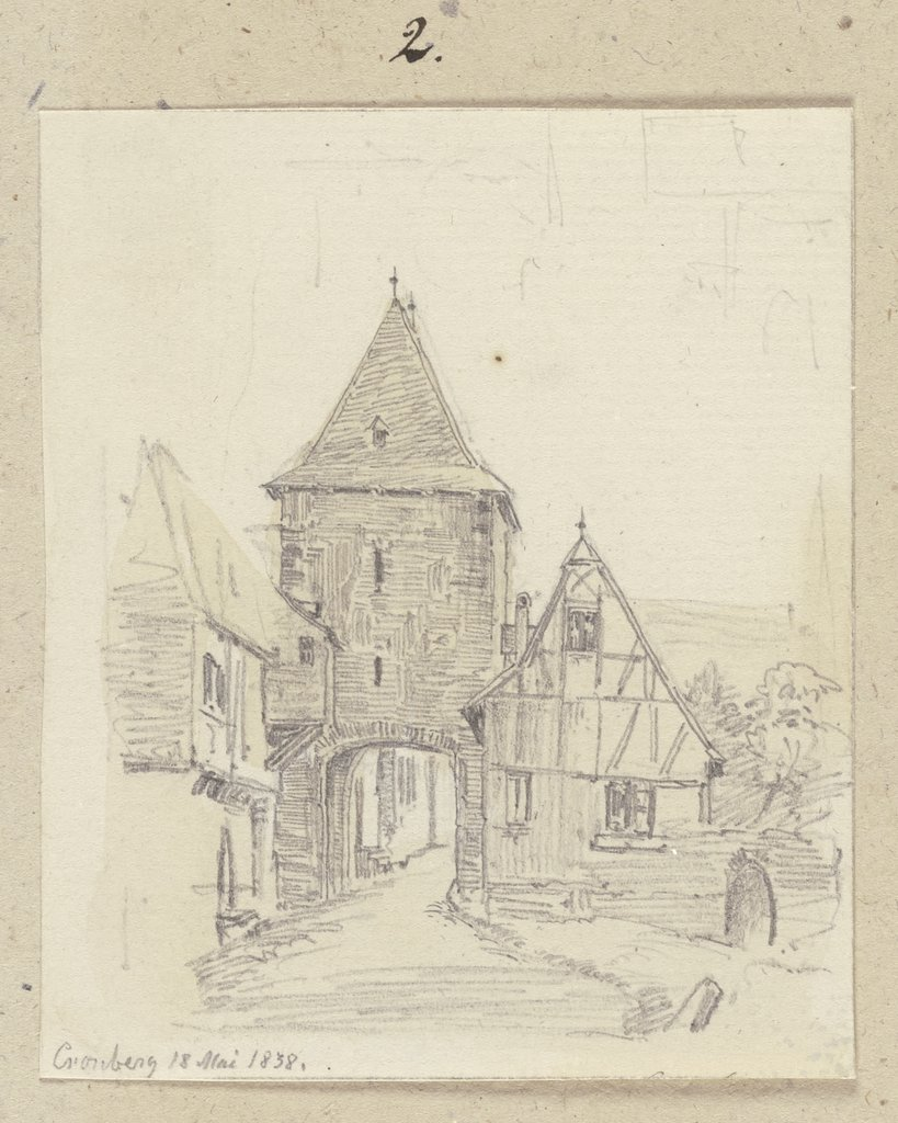 City gate in Kronberg, Carl Theodor Reiffenstein