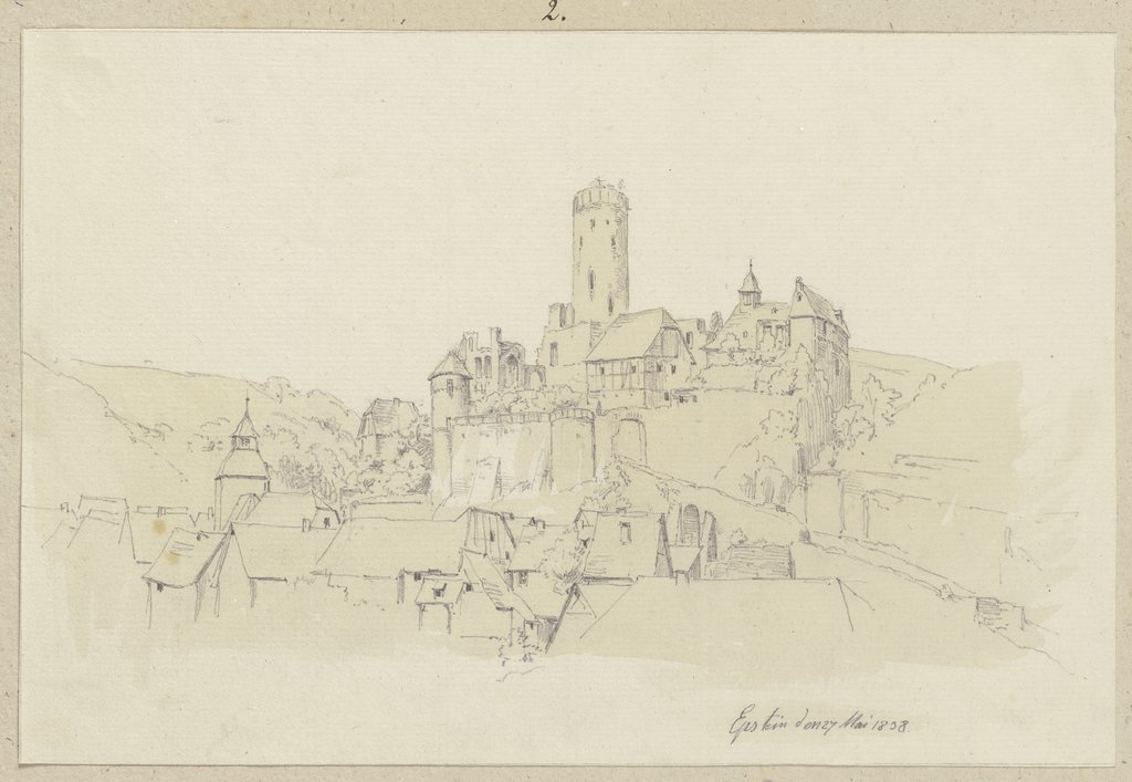 Eppstein with castle, Carl Theodor Reiffenstein