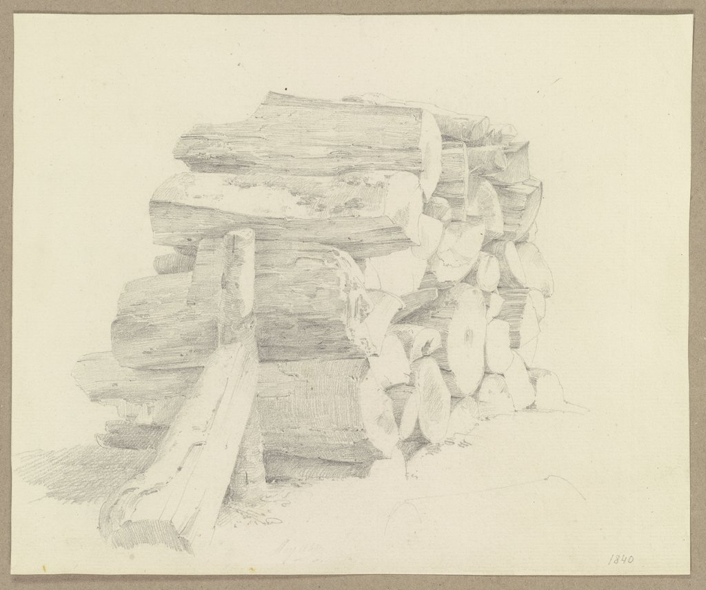 Stack of wood, Carl Theodor Reiffenstein