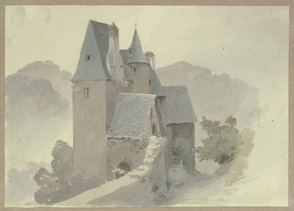 Outer ward of castle Eltz, Carl Theodor Reiffenstein