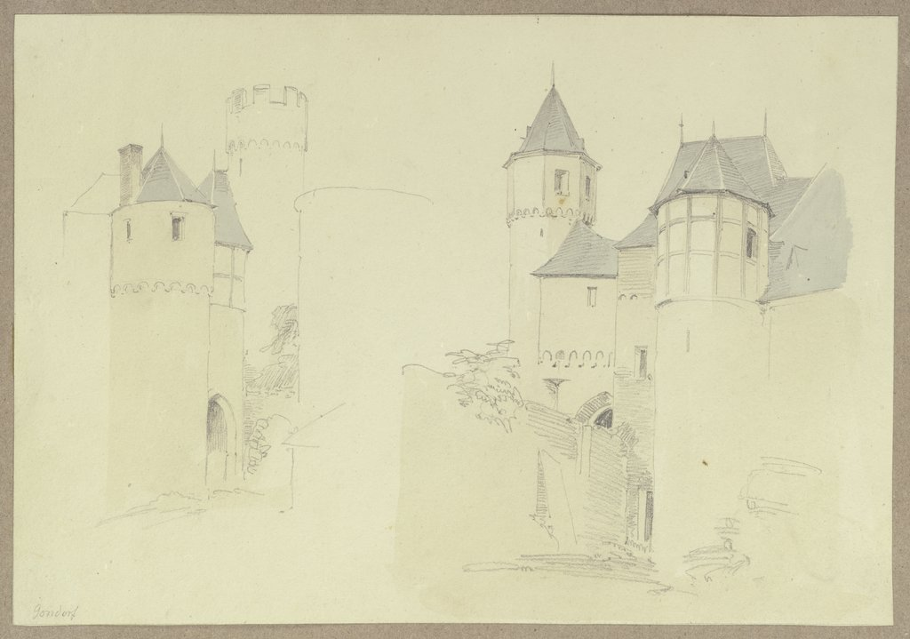 Upper castle in Gondorf, Carl Theodor Reiffenstein