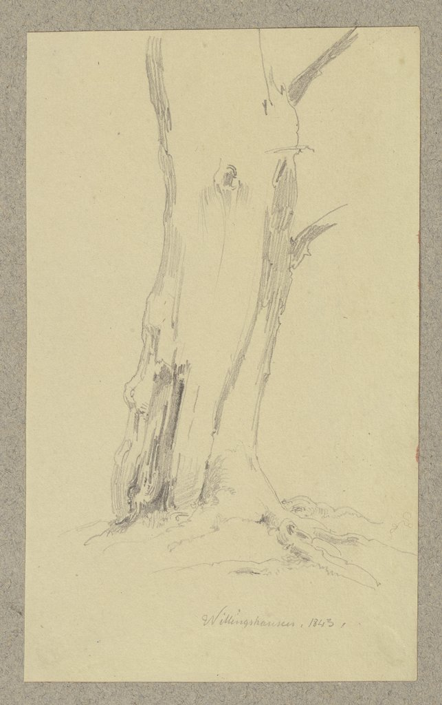Tree near Willingshausen, Carl Theodor Reiffenstein