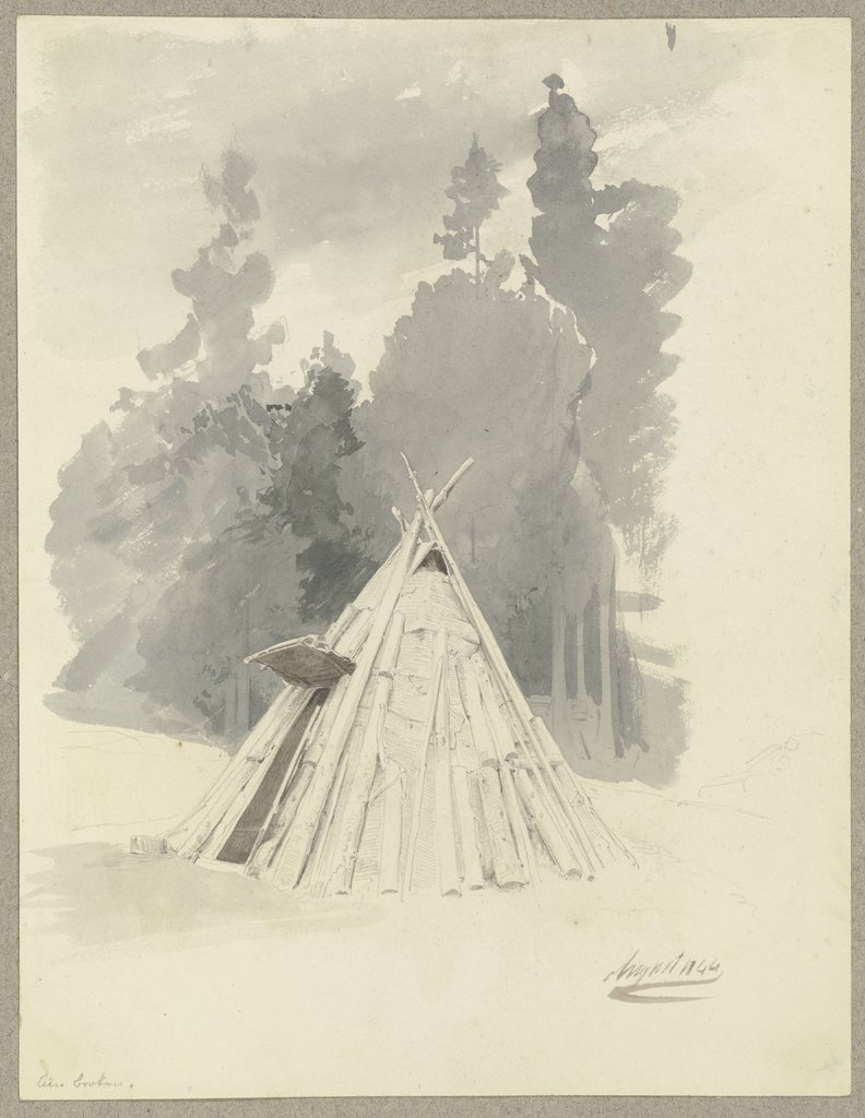 Charburners hut on the Brocken, Carl Theodor Reiffenstein
