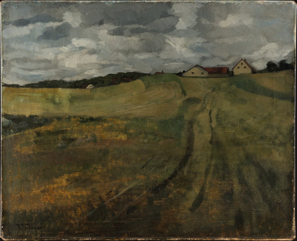Stubble Field with Ascending Path near Wessling, Wilhelm Trübner