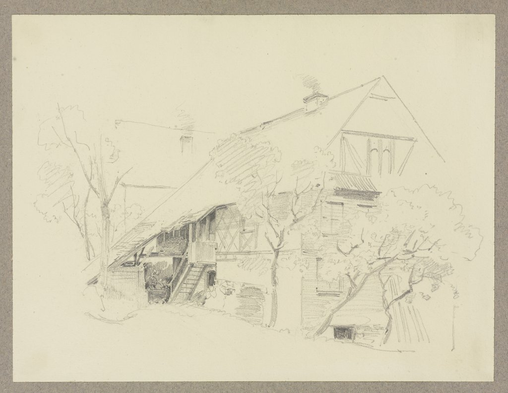 Farm house, Carl Theodor Reiffenstein