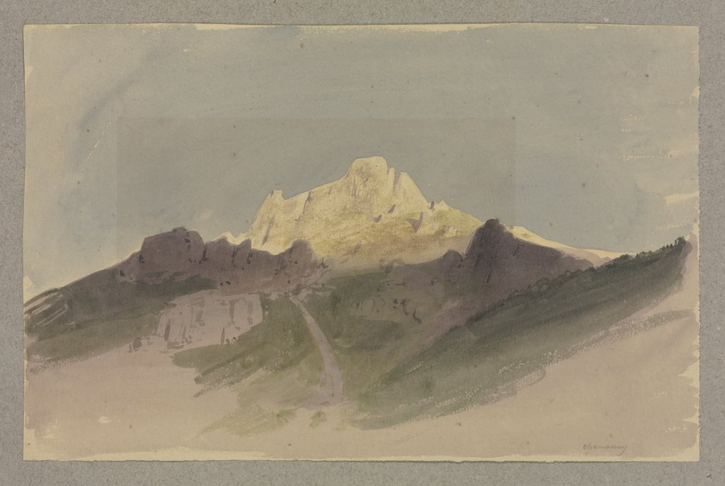 Mountain peak near Chamouny, Carl Theodor Reiffenstein