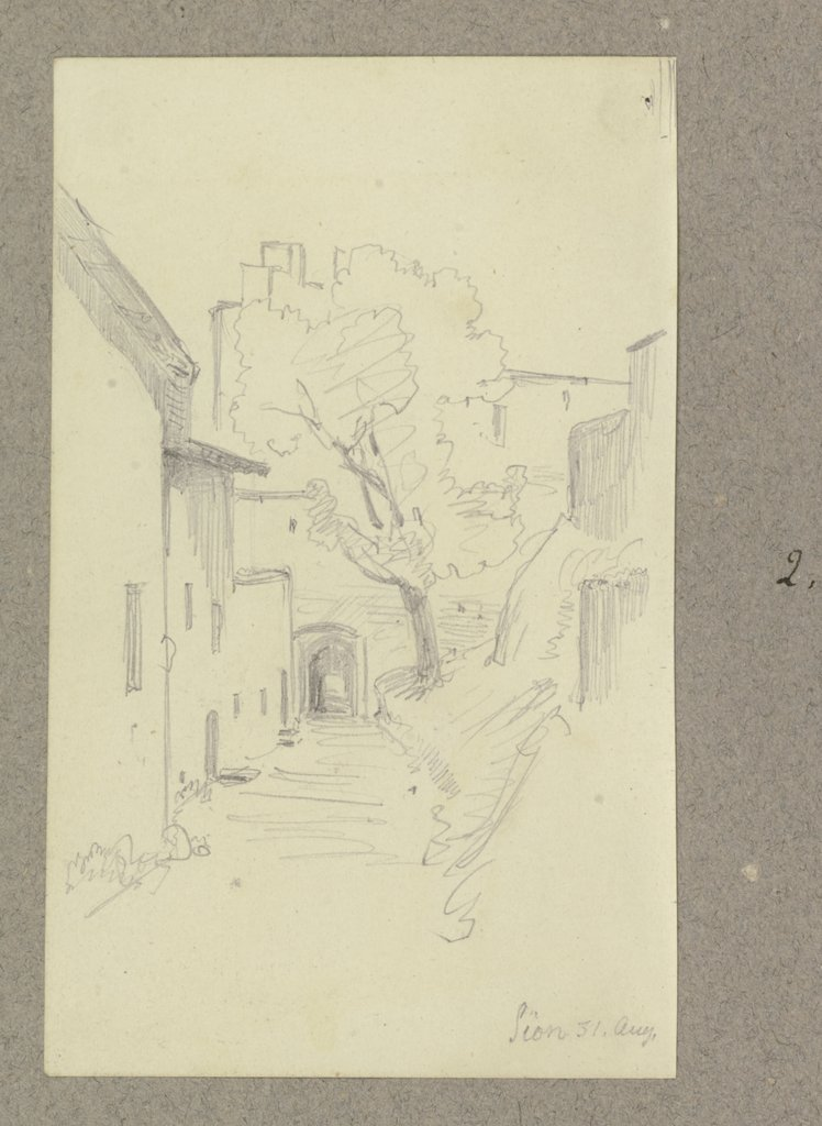 Alley in Sitten, Carl Theodor Reiffenstein