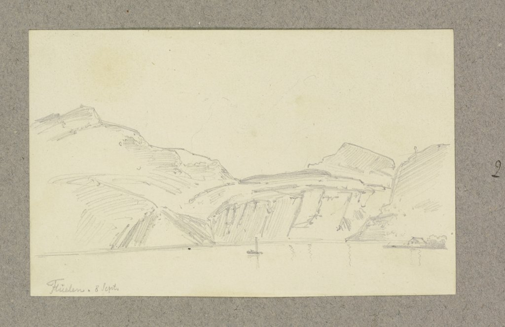 Lake surrounded by mountains, Carl Theodor Reiffenstein