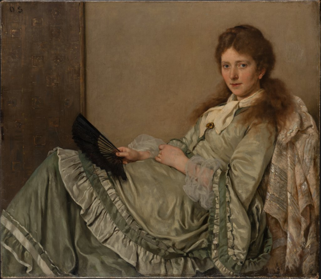 Portrait of the Artist's Wife on the Ottoman, Otto Scholderer