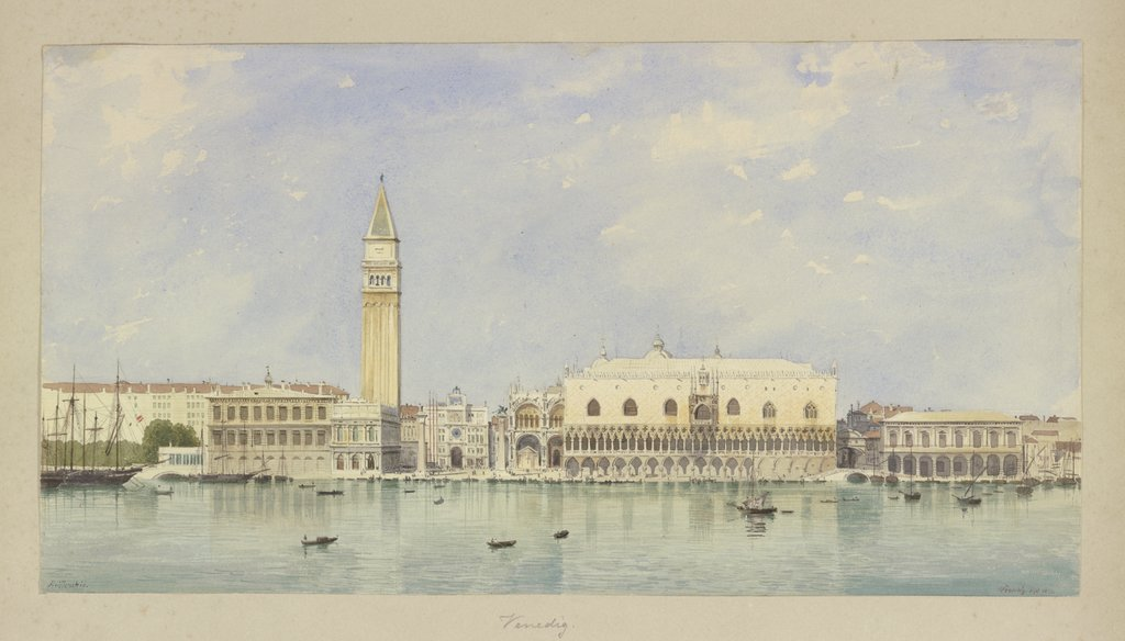Piazza San Marco during the day, Carl Theodor Reiffenstein