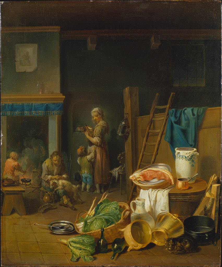 Kitchen Interior, Justus Juncker, Johann Conrad Seekatz