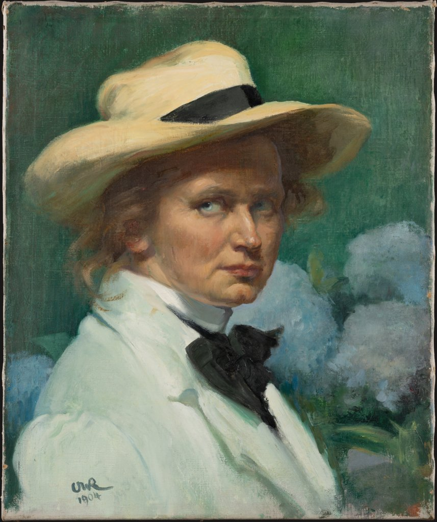 Self-Portrait with Hat, Ottilie W. Roederstein
